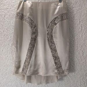 Moda International 100% Silk with Lace Skirt Sz4